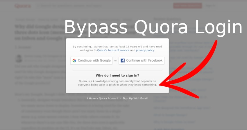 Read Answers on Quora Without Login Using Cookie Method